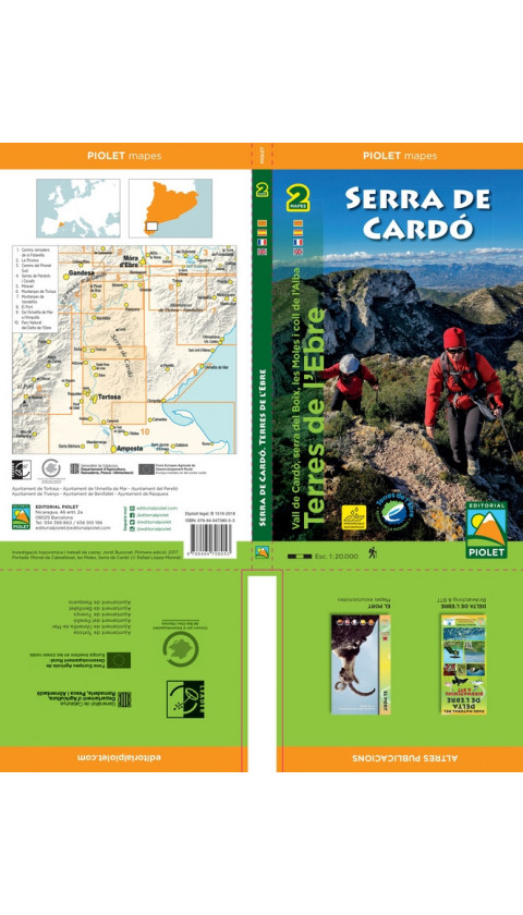 Mapa Serra de Cardó 1:20.000 1a ed