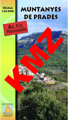 Muntanyes de Prades. Digital Kmz (Garmin, Google Earth) 1:25.000 4a ed