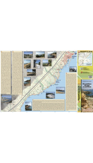 Mapa De l'Ametlla de Mar a l'Ampolla. Seguint el GR-92. 1:10.000 1a ed