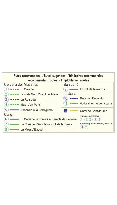 Mapa Cervera del Maestrat - Càlig. Baix Maestrat 1:20.000 1a ed