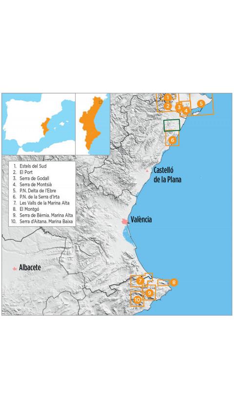 Cervera del Maestrat - Càlig. Baix Maestrat . Digital Compegps/Oziexplorer1:20.000 1a ed