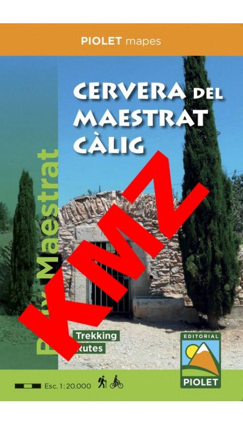 Cervera del Maestrat - Càlig. Baix Maestrat . Digital Kmz/Jnx 1:20.000 1a ed