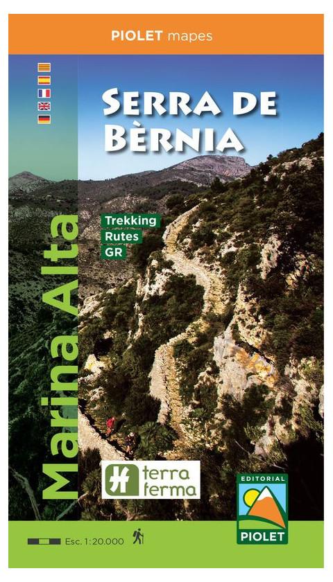 Mapa Serra de Bèrnia. Marina Alta 1:20.000 3a ed