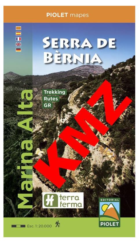Serra de Bèrnia. Marina Alta. Digital Kmz 1:20.000 3a ed
