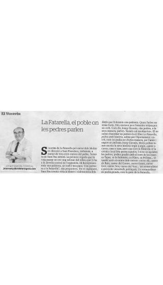 La Fatarella. Pedres amb història. Josep Gironès. 1a ed 2018