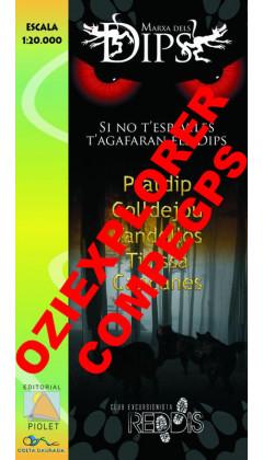 Marxa dels Dips. Pratdip, Colldejou, Vandellòs, Tivissa, Capçanes. Digital Compegps/Twonav/Oziexplorer 1:20.000 1a ed