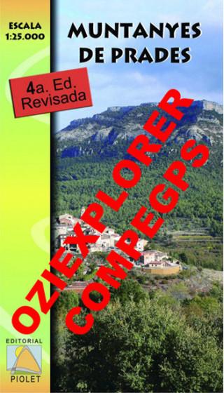 Muntanyes de Prades. Digital CompeGps/Oziexplorer 1:25.000 4a ed