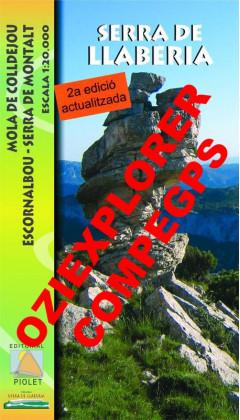 Serra de Llaberia. Mola de Colldejou, Escornalbou, Serra de Montalt. Digital CompeGps/Oziexplorer 1:20.000 2a ed