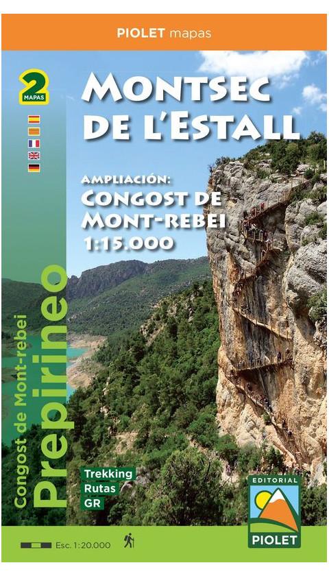 Mapa Montsec de l'Estall - Congost de Mont-rebei 1/20.000, 1/15.000 1a ed 2019