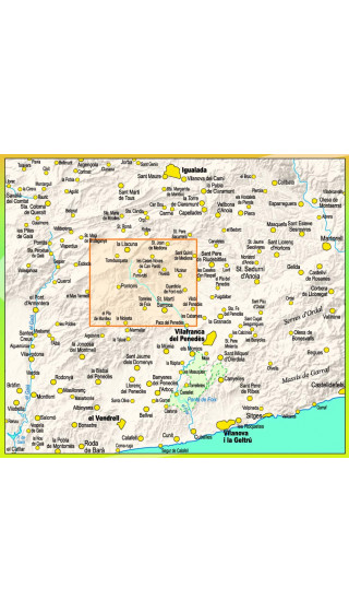 Mapa Font-Rubí. Serra de la Llacuna. Serra d'Ancosa. Les Gorges del Foix 1:20.000 1a ed