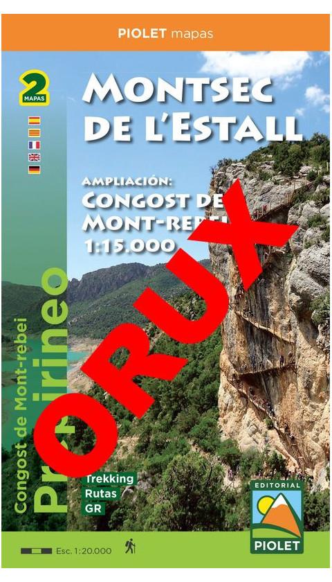 Montsec de l'Estall - Congost de Mont-rebei. Digital OruxMaps 1/20.000, 1/15.000 1a ed 2019