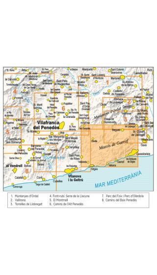 Mapa Massís de Garraf. Serralada Litoral 1/20.000 2aed 2019