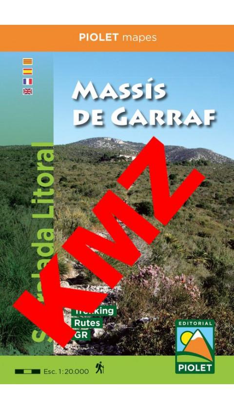 Massís de Garraf. Serralada Litoral. Digital Kmz  1/20.000 2aed 2019