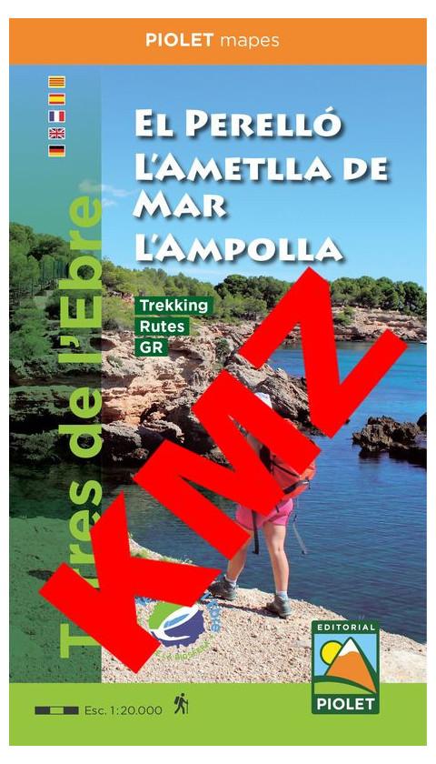 El Perelló, L'Ametlla de Mar, L'Ampolla. Formato Digital Kmz 1:20,000 1a ed 2019