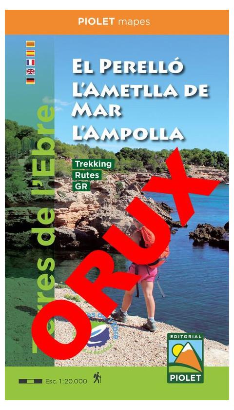 El Perelló, L'Ametlla de Mar, L'Ampolla. Formato Digital OruxMaps 1:20,000 1a ed 2019