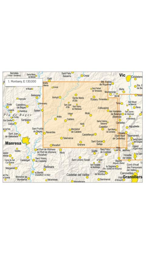 Mapa El Moianès 1:30.000 3a ed 2019