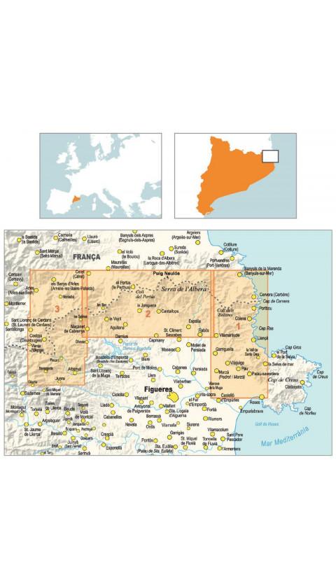 Mapa Ruta dels 4 Refugis de la Tramuntana 1:25.000 1a ed 2020