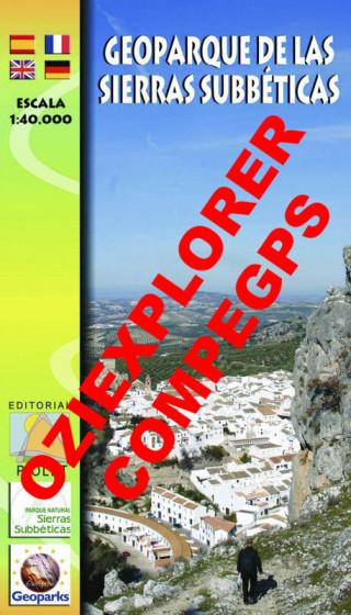 Geoparque de las Sierras Subbéticas 1:40.000 Formato digital Oziexplorer/CompeGps 1a ed