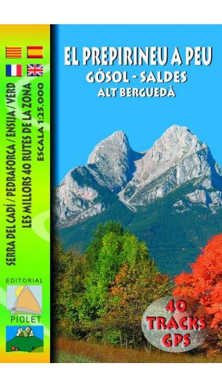 Mapa El Prepirineu a Peu. Gòsol-Saldes.Alt Berguedà. Serra del Cadí. Pedraforca. Ensija. Verd 1:25.000 1a ed