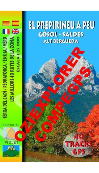 El Prepirineu a Peu. Gòsol-Saldes.Alt Berguedà. Serra del Cadí. Pedraforca. Ensija. Verd. Digital CompeGps/Oziexplorer 1:25.000