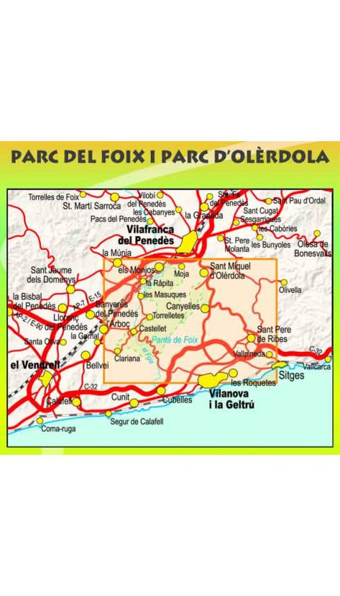 Mapa Parc del Foix i Parc d'Olèrdola 1:20.000 1a ed